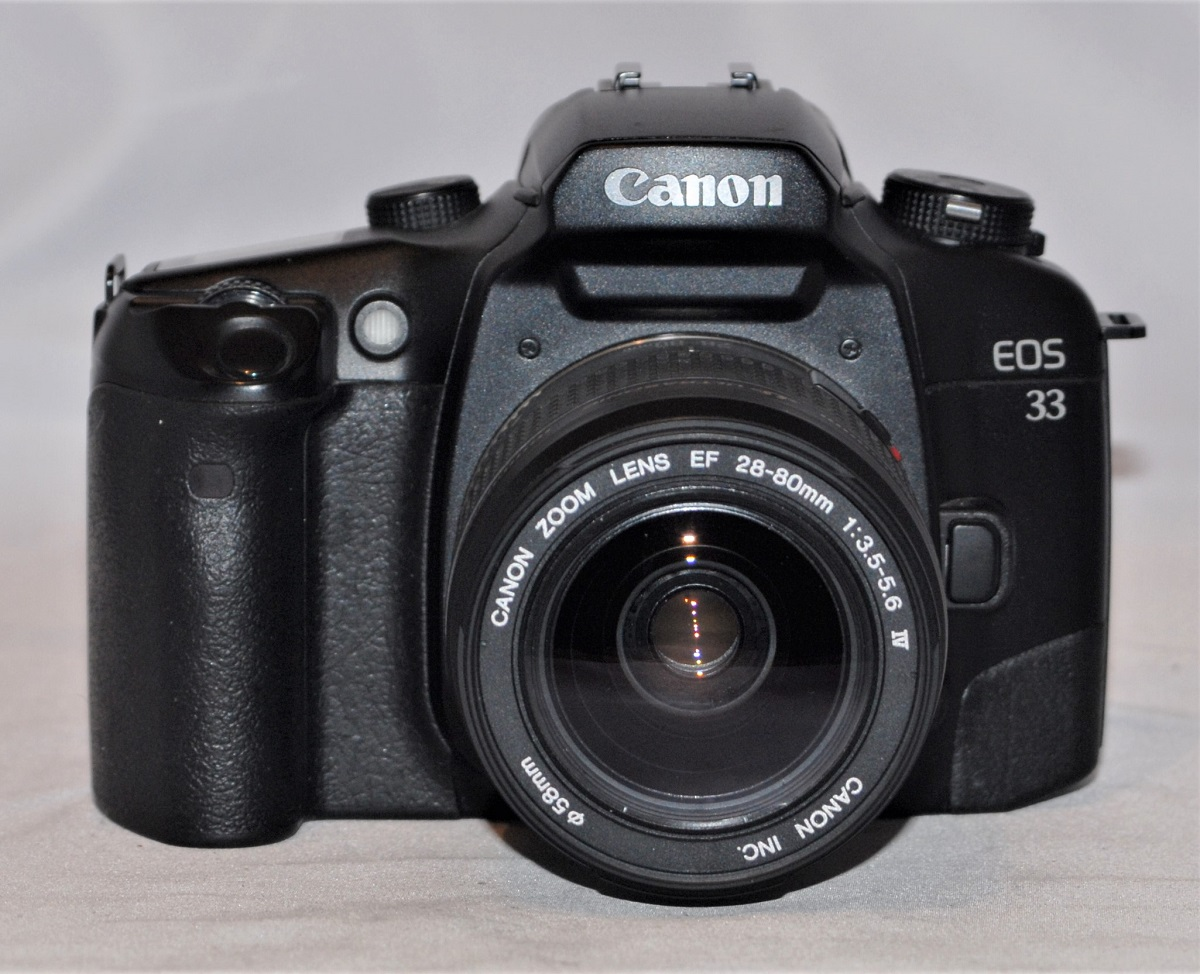Canon EOS 33 + 28-80mm f3.5-5.6 Mk IV USM. Excellent condition.