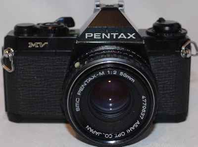 Pentax MV with f2 50mm