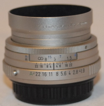 Pentax 43mm f1.9 Limited (very rear)
