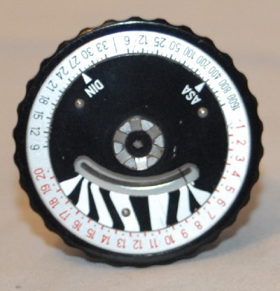 Hasselblad winding knob with light meter