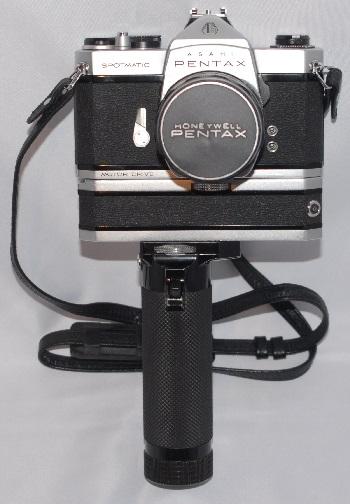 Pentax Spotmatic Motor drive + 50mm f1.4 + case (very rare)
