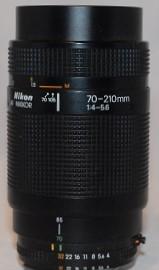 Nikon f4-5.6, 70-210mm