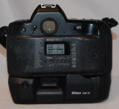 Nikon F90X with grip