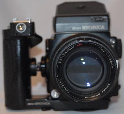Zenza Bronica 150mm f3.5 + meter head and hand grip