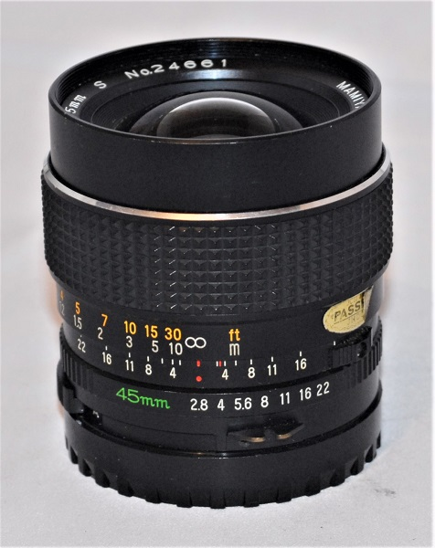 Mamiya Sekor C (for Mamiya 645) 45mm f2.8. Excellent condition. SOLD