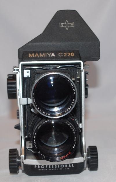 Mamiya C220 + 180mm f4.5 with prism sold