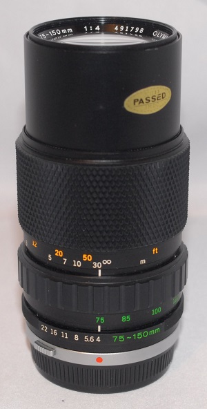 Olympus 75-150mm f4 (Includes case) MINT condition
