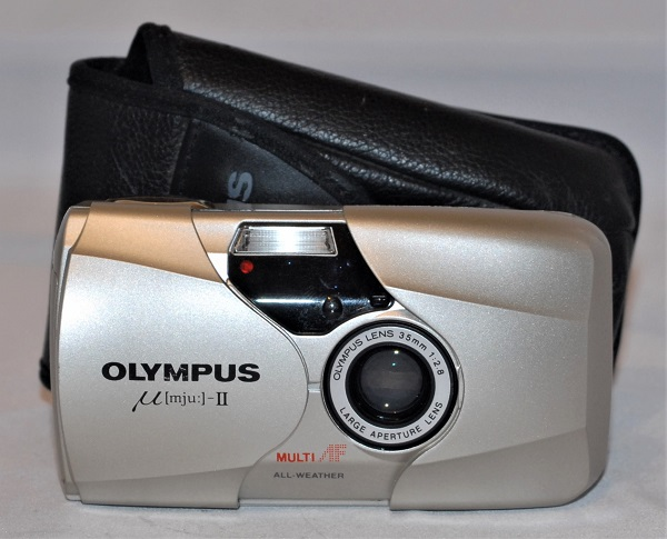 Olympus Mju II (quartz date version, made in Japan). Near mint condition. SOLD