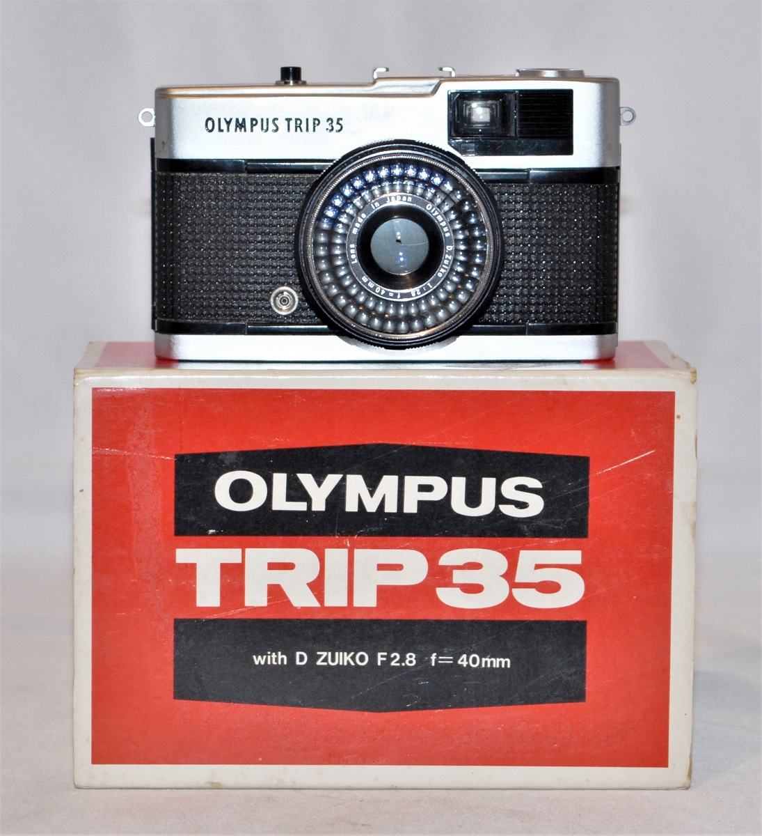 Olympus Trip 35. Excellent condition. Includes lens cap, box, and case. SOLD