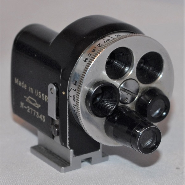 Original Zenit Russian multi turret finder. Includes Bakelite case.