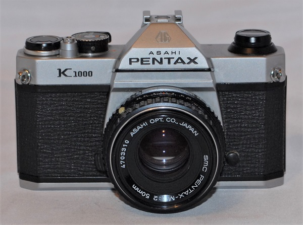 Pentax K1000 + 50mm f2 lens. Excellent condition -SOLD