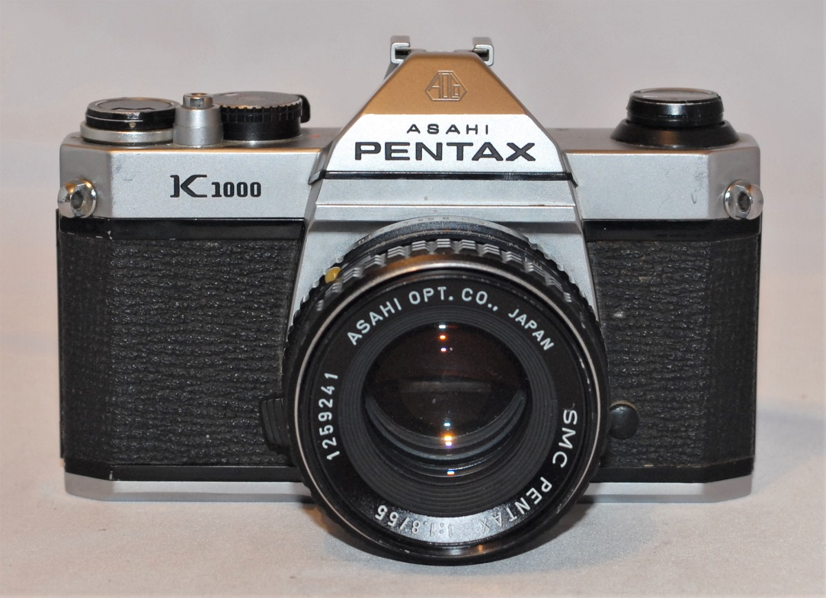 Pentax K1000 + 55mm f1.8 lens. Excellent condition. SOLD