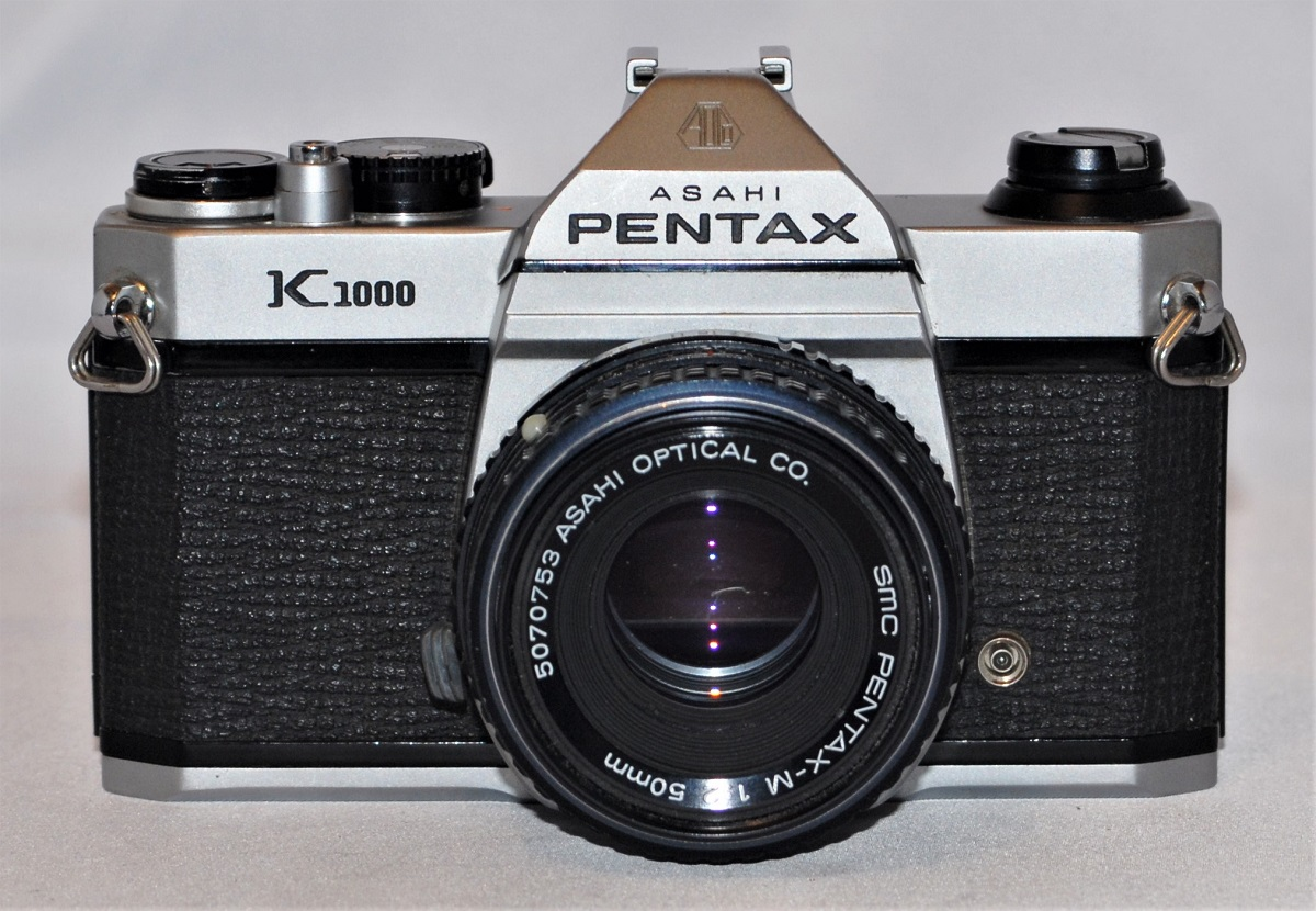Pentax K1000 + 50mm f2 lens. Made in Japan. Excellent condition. SOLD
