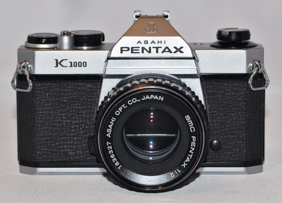 Pentax K1000 + 55mm f2 SMC lens. Made in Japan. Near mint condition. SOLD