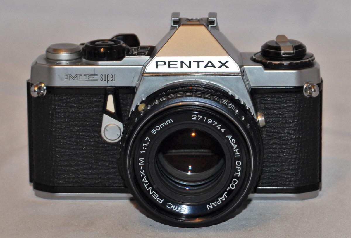 Pentax ME Super + 50mm f1.7 SMC. Excellent condition.