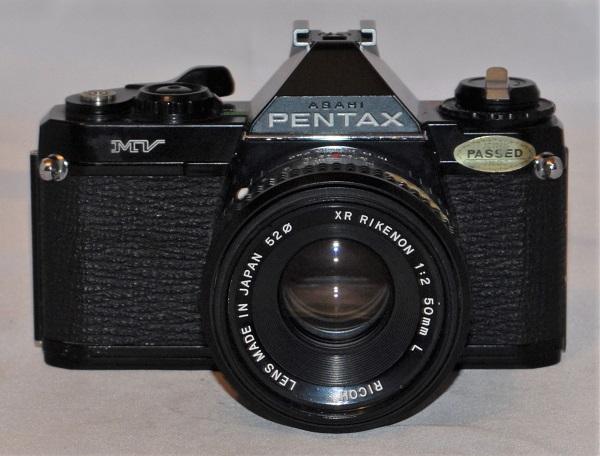 Pentax MV + Rikenon 50mm f2. Excellent condition. SOLD