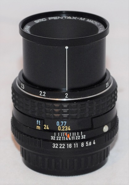 Pentax Macro 50mm f4 (near mint condition with case).