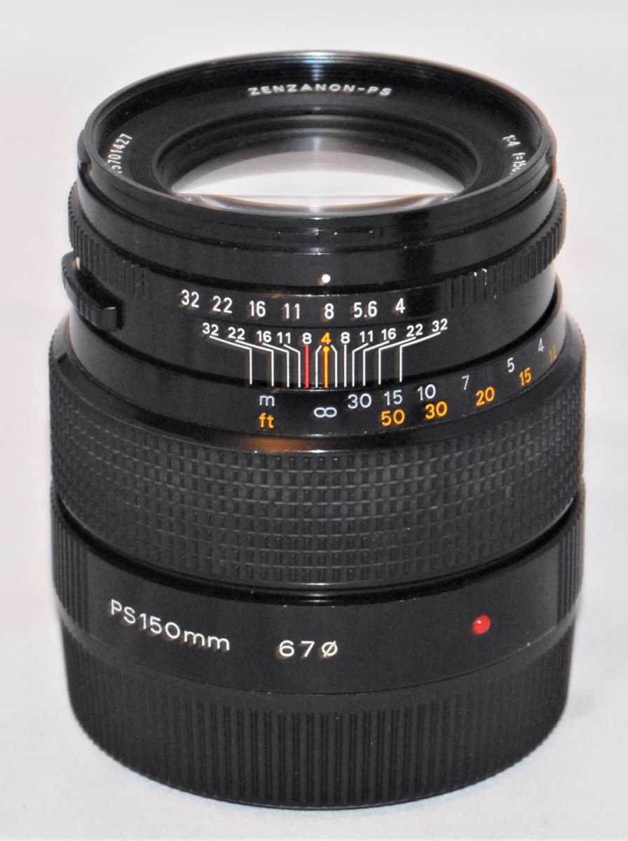 Zenzanon PS 150mm f4 lens (for Bronica 6x6 format). Excellent condition.