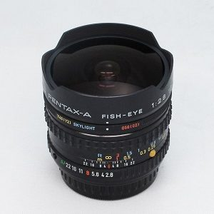 Pentax 16mm f2.8 SMC fisheye (PKA mount)